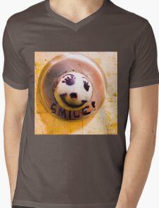 Smile!! :)  Mens V-Neck T-Shirt