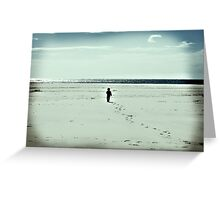 The Lonely Traveller Greeting Card