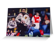 Giggs goal v Arsenal Oil on Canvas Greeting Card