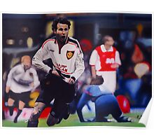 Giggs goal v Arsenal Oil on Canvas Poster