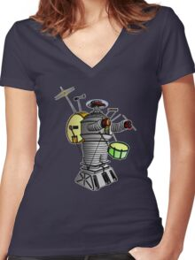 Lost In Sound Women's Fitted V-Neck T-Shirt