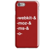 Web Browser Prefixing iPhone Case/Skin