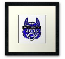 WOLFPACK ATTACK (WHITE) PHII BETA SIGMA - EA Framed Print