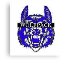 WOLFPACK ATTACK (WHITE) PHII BETA SIGMA - EA Canvas Print
