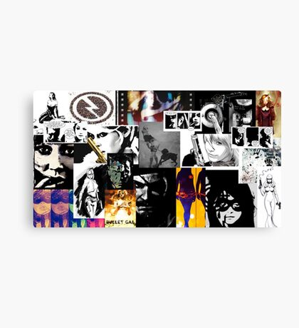 Bullet Gal: Collage Canvas Print