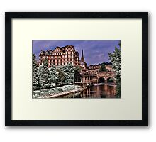 Victoria Art Gallery and Palladian Pulteney Bridge  Framed Print