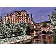 Victoria Art Gallery and Palladian Pulteney Bridge  Photographic Print