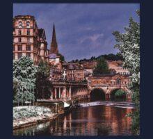 Victoria Art Gallery and Palladian Pulteney Bridge  Kids Tee