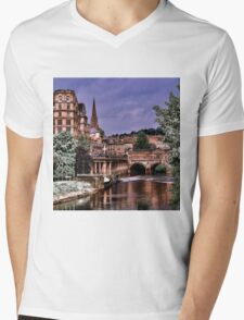 Victoria Art Gallery and Palladian Pulteney Bridge  Mens V-Neck T-Shirt