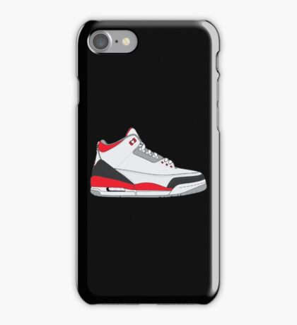 "Air Jordan III (3) ""Fire Red"" iPhone Case/Skin"