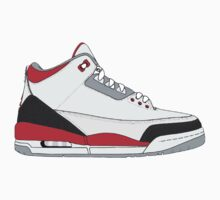 "Air Jordan III (3) ""Fire Red"" by gaeldesmarais"