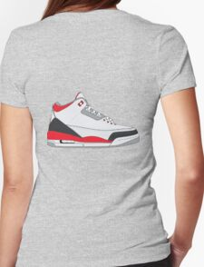 "Air Jordan III (3) ""Fire Red"" Womens Fitted T-Shirt"