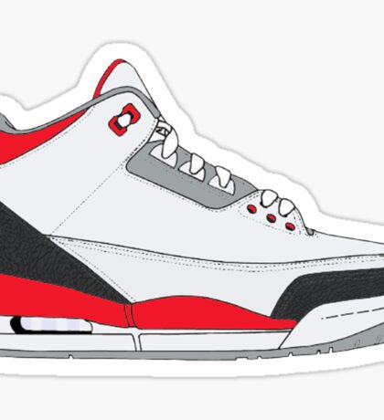 "Air Jordan III (3) ""Fire Red"" Sticker"
