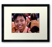 Ubud Boy Framed Print