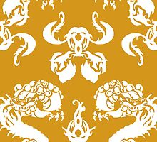 DRAGON PATTERN GOLD by veggiemuse