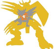 Digimon Agumon warp digivolve to WarGreymon by Zanie