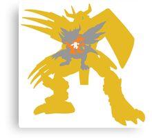 Digimon Agumon warp digivolve to WarGreymon Canvas Print