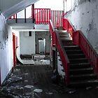 Red Stairs Climb by Paul Lubaczewski