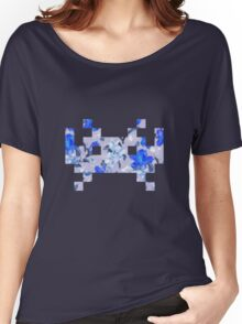 Floral Invasion - Blue Women's Relaxed Fit T-Shirt