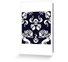 DRAGON PATTERN NAVY Greeting Card