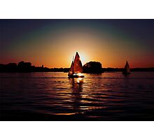 Sailing Silhouettes Photographic Print
