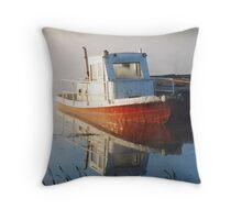 Moored in the Mist Throw Pillow