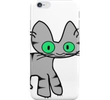 Gray Tiger Kitty iPhone Case/Skin