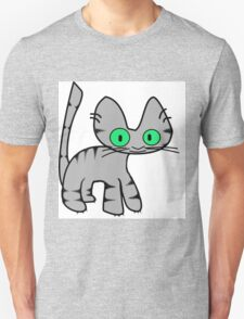 Gray Tiger Kitty Unisex T-Shirt