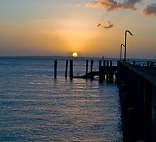 Sunset over the pier 2 by faulsey