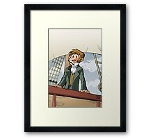 Darwin Comic Cover Framed Print