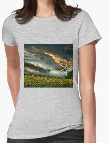 Sunfllower field II Womens Fitted T-Shirt