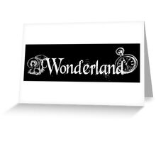 Wonderland - White Greeting Card