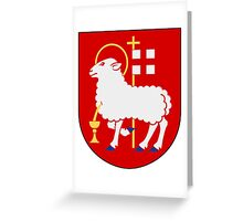 Visby Coat of Arms  Greeting Card