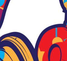 Colorful Headphones Sticker