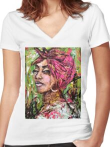 Faces 11 Women's Fitted V-Neck T-Shirt