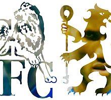 frank lampard & didier drogba chelsea fc logo photo drawing by POPULARPRINT