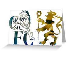 frank lampard & didier drogba chelsea fc logo photo drawing Greeting Card