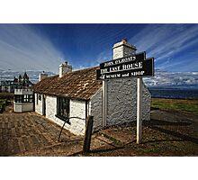 The Last House Lohn o`Groats, Caithness, Scotland Photographic Print