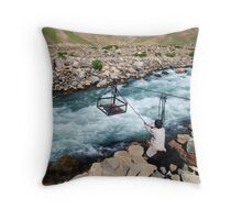 Crossing the River Throw Pillow