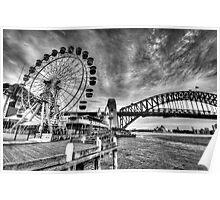 Sydney Harbour - A Study In Black and White - The HDR Experience Poster