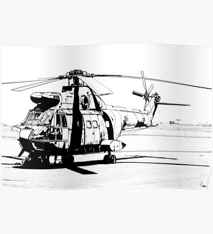 Aerospatiale SA-330H Puma Helicopter Poster