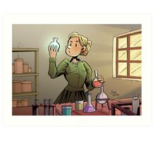 Marie Curie Comic Cover Art Print