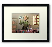 Marie Curie Comic Cover Framed Print