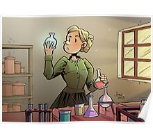 Marie Curie Comic Cover Poster