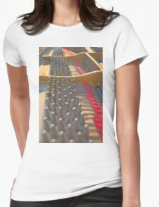 Piano Pegs Womens Fitted T-Shirt
