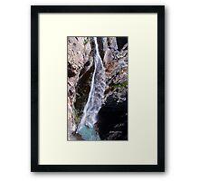 Bear creek water falls Framed Print