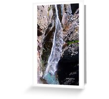 Bear creek water falls Greeting Card