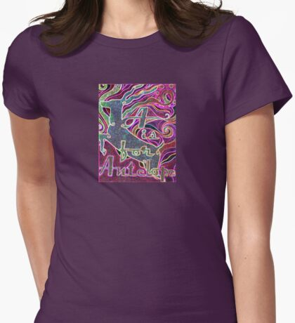 A is for Antelope - Design 3 Womens Fitted T-Shirt