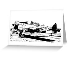 N. American Harvard AT-6C - 69 - ZU-FNE Greeting Card