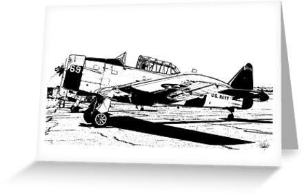 N. American Harvard AT-6C - 69 - ZU-FNE by RatManDude